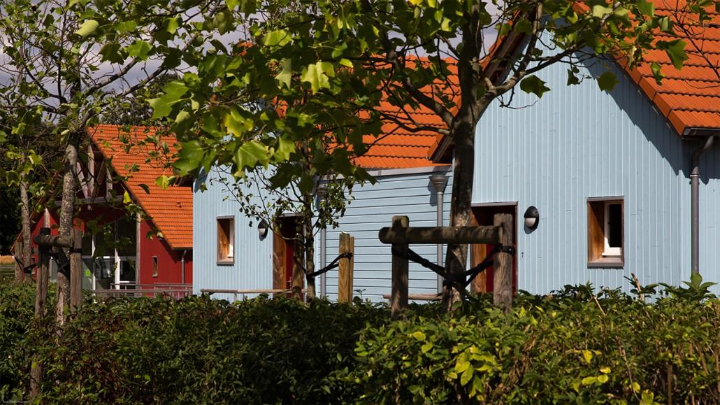 Cabanes du port - Crédit : Village portuaire de Decize